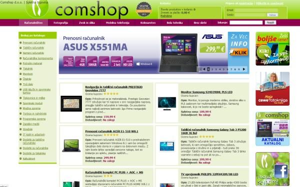 Spletna trgovina Comshop